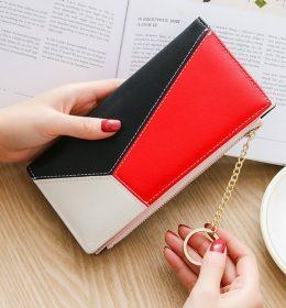 Dompet Wanita Tiga Warna Berkelas