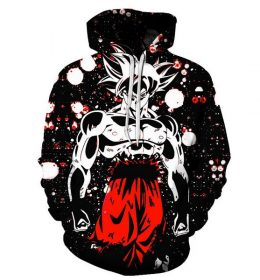 Sweater Hoodie Goku 3 Dimensi Import