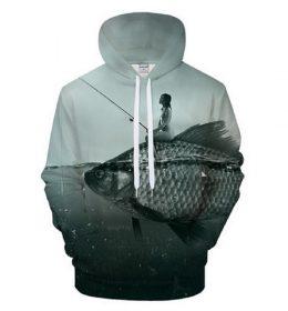 Hoodie Sweater 3 Dimensi Model Ikan