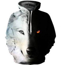 Hoodie Sweater Serigala 3 Dimensi Terbaru