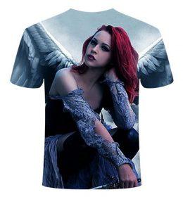 Kaos 3 Dimensi Angel Wings Woman Import
