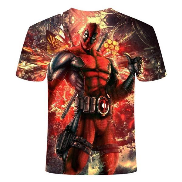 Kaos 3 Dimensi Deadpool 2 Import