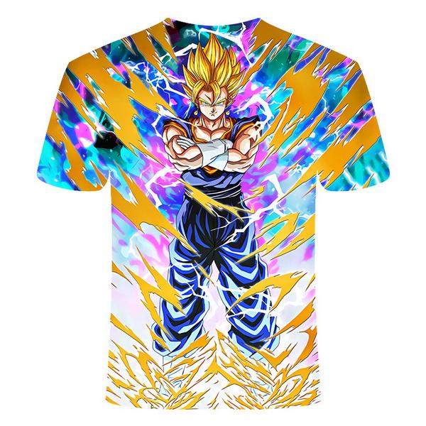 Kaos 3 Dimensi Goku Kartun Import