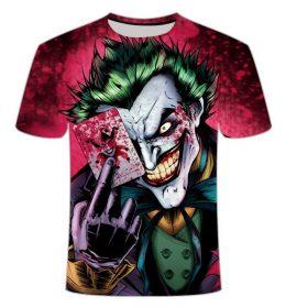 Kaos 3 Dimensi Kartun Joker Import