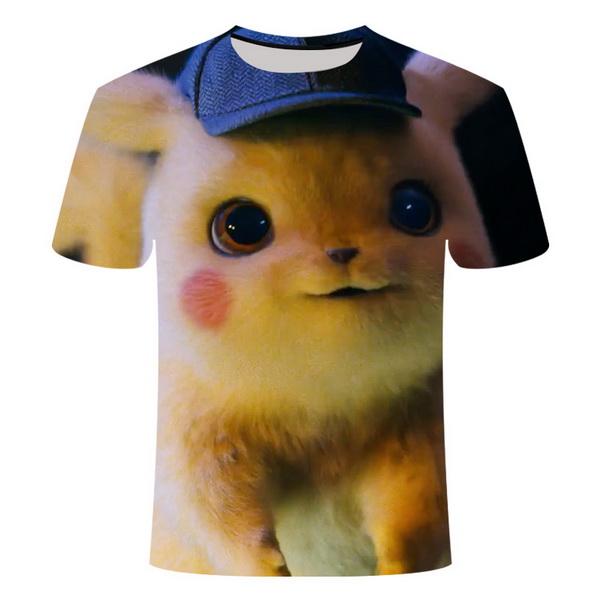 Kaos 3 Dimensi Kartun Pikachu Import