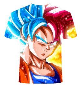 Kaos 3 Dimensi Kartun Son Goku Super Import