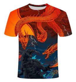 Kaos 3 Dimensi Monster Ghidorah Import