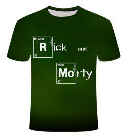 Kaos 3 Dimensi Rick and Morty Import
