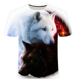 Kaos 3 Dimensi Serigala Hutan Import
