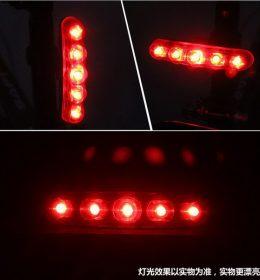 Lampu Belakang Merah Sepeda Gunung 5LED Import