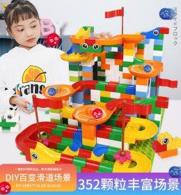 Mainan Anak Import 1034 Blok Variabel Bangunan Besar Dirakit