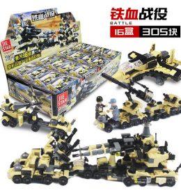Mainan Anak Lego Import 16 Blok Kendaraan Militer