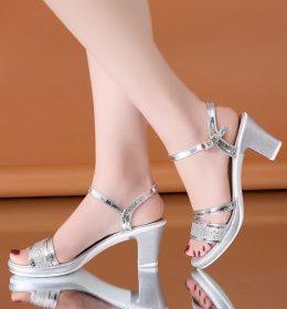 Sandal High Heels Import Bahan Tebal
