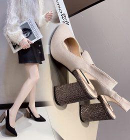 Sandal High Heels Model Setengah Terbuka