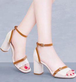 Sandal High Heels Wanita Tumit Tebal 2020
