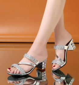 Sandal Wanita Import Tumit Tinggi