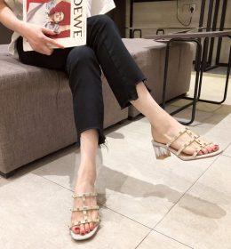 Sandal Wanita Tali Gesper Berlian Import