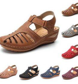 Sandal Wedges Heels Atas Semi Terbuka