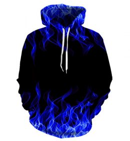 Sweater Hoodie Api 3 Dimensi