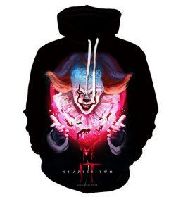 Sweater Hoodie Badut Seram 3 Dimensi