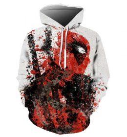 Sweater Hoodie Deadpool 3 Dimensi Import