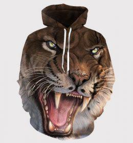 Sweater Hoodie Harimau 3 Dimensi Import