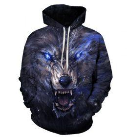 Sweater Hoodie Jaket 3 Dimensi Serigala