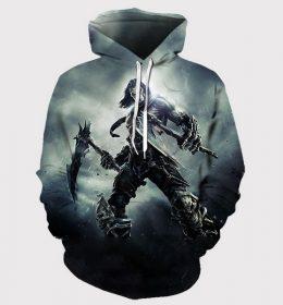 Sweater Hoodie Kegelapan 3 Dimensi Import