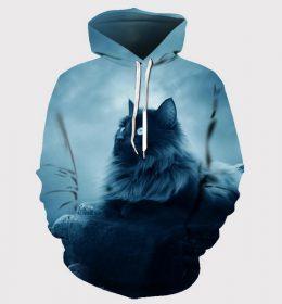 Sweater Hoodie Kucing 3 Dimensi