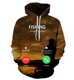Sweater Hoodie Memancing Telfon Whatsapp 3 Dimensi