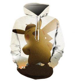 Sweater Hoodie Pikachu 3 Dimensi Import