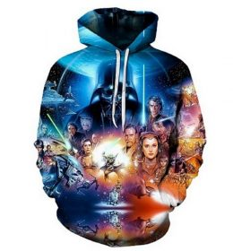 Sweater Hoodie Star War 3 Dimensi