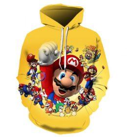 Sweater Hoodie Super Mario Bross 3 Dimensi