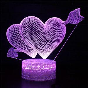 Lampu 3D Jatuh Cinta Import