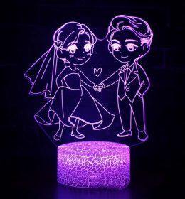 Lampu 3D Pasangan Kekasih Import