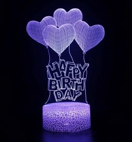 Lampu Tidur 3D Hadiah Ulang Tahun Import