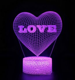 Lampu Tidur 3D Love Import