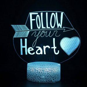 Lampu Tidur Follow Heart Import