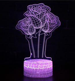 Lampu Tidur Model Bunga Mawar Import Terbaru