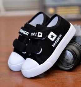 Sepatu Anak Casual Warna Hitam Import