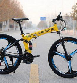 Sepeda Lipat MTB Import Warna Kuning 30 Speed