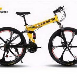 Sepeda Lipat MTB Warna Kuning Import 30 Speed