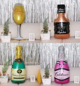 Balon Karakter Botol Wine Cocok untuk Surprise Ulang Tahun