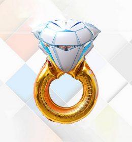 Balon Karakter Diamond Ring Cincin Emas