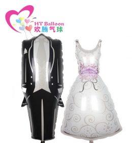 Balon Karakter Gaun Pernikahan