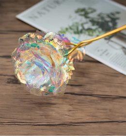 Bunga Mawar Dekorasi Bisa Menyala Cocok Untuk Dipajang Di Meja Rumahmu
