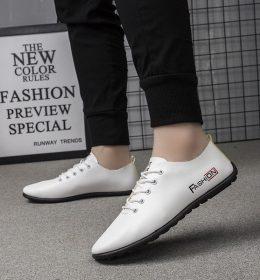 Sepatu Casual Kulit Ala Oppa Korea Kualitas Asli Import
