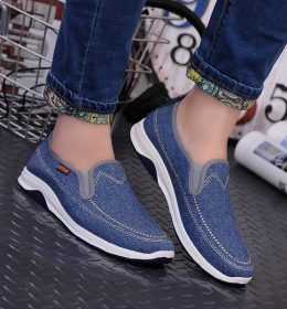 Sepatu Slip On Bahan Semi Jeans Cocok Dipadukan Dengan Fashion Andalanmu
