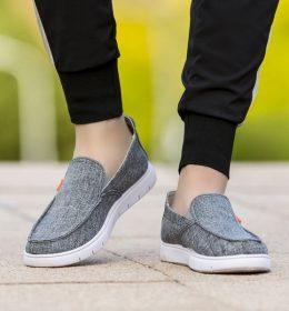 Sepatu Slip On Casual Bahan Kanvas Kualitas Import