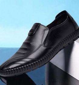 Sepatu Slip On Kulit Keren Cocok untuk Pesta dan Acara Formal